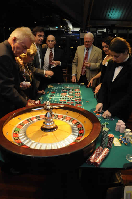roulette table at casino party
