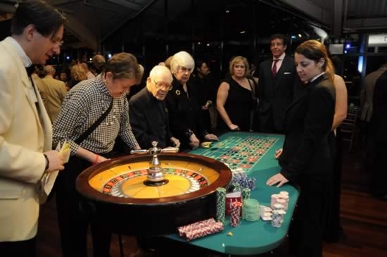 roulette tables at casino parties