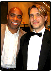 Tiki Barber at Fundraiser casino party with Owner Scott Orel