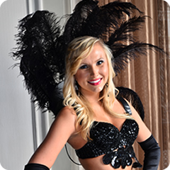 add Vegas showgirls to your casino night